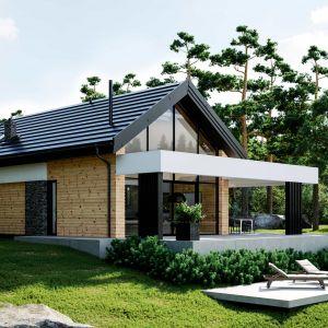 HomeKONCEPT 66 to komfortowy dom rekreacyjny o powierzchni użytkowej 106,62 m2, zaprojektowany w nowoczesnej stylistyce. Projekt i zdjęcia: HomeKONCEPT