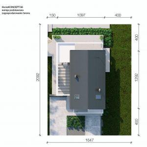 Usytuowanie domu na działce. Dom HomeKONCEPT 66. Projekt i zdjęcia: HomeKONCEPT