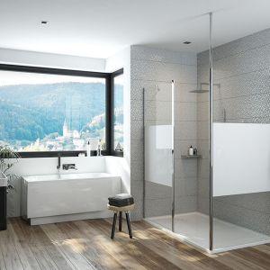 Nowości do strefy kąpieli: kabina prysznicowa Prestige typu walk-in. Fot. Sanplast