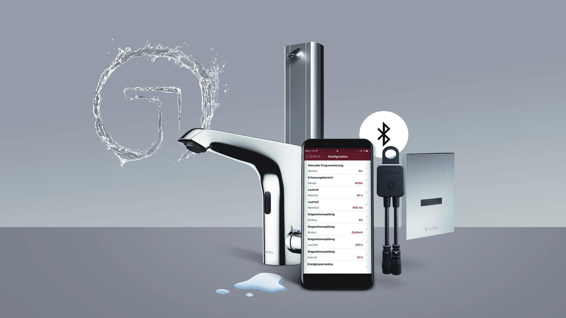 Nowoczesna łazienka - baterie oszczędzające wodę. Fot. Schell