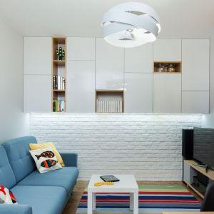 Małe mieszkanie. Projekt: arch. Justyna Mojżyk (poliFORMA). Fot. Monika Filipiuk-Obałek