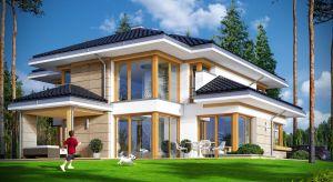 Dom z widokiem 3 jest dedykowany w szczególności na trudniejsze działki, z niekorzystną orientacją wjazdu w stosunku do nasłonecznienia - z ogrodem z boku lub przodu domu.