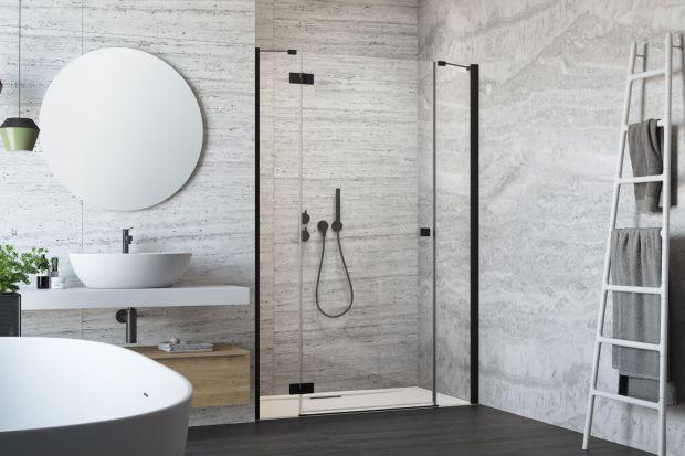 Kabiny prysznicowe - nowa kolekcja w modnej czerni