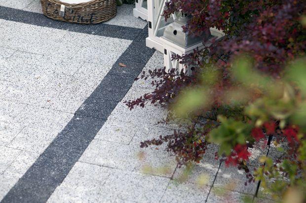 Nawierzchnie ogrodowe - kostki o fakturze płukanej