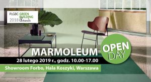 Forbo Flooring Polska zaprasza na Marmoleum Open Day, czyli prezentację najnowszej kolekcji naturalnych, neutralnych pod względem emisji C02 wykładzin podłogowych linoleum. Wydarzenie odbędzie się 28.02.2019 w godz. 10:00-17:00 w Warszawie, w showro
