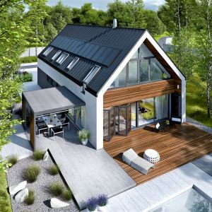 Sposób na elewację domu. Dom EX 19 G2 Energo Plus. Projekt Artur Wójciak. Fot. Pracownia Projektowa Archipelag
