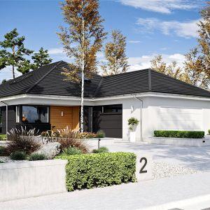 Dom jest przestronny, ale nie przytłacza swoim rozmiarem, dzięki czemu jest bardzo funkcjonalny, ale też ekonomiczny w użytkowaniu. Dom Alison IV G2 Energo Plus. Projekt: arch. Artur Wójciak. Fot. Pracownia Projektowa Archipelag