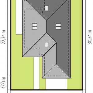 Usytuowanie domu na działce. Dom Alison IV G2 Energo Plus. Projekt: arch. Artur Wójciak. Fot. Pracownia Projektowa Archipelag