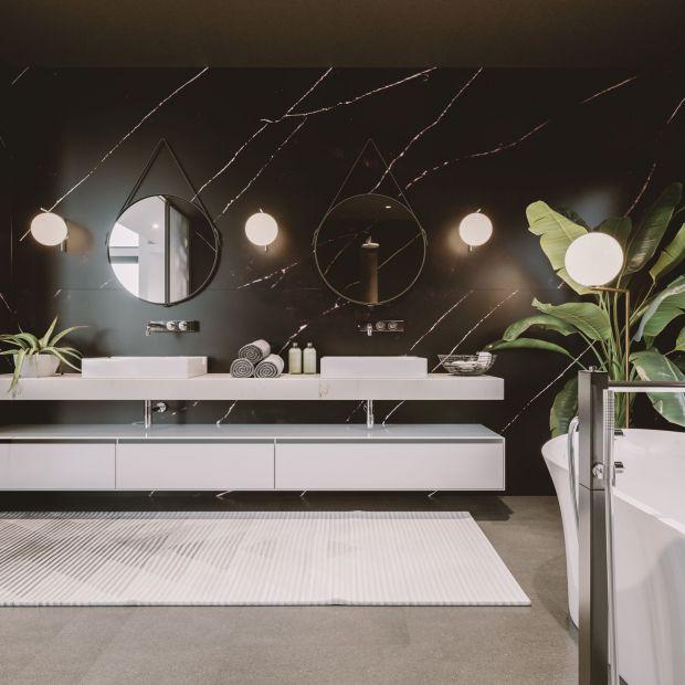 Modna łazienka - czerń doda wnętrzu klasy