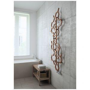 Heksagonalne moduły grzejnika Hex układają się w poziome lub pionowe formy, tworząc na ścianie plaster miodu. Dostępny w 248 kolorach oraz w wersji wodnej. Fot. Terma