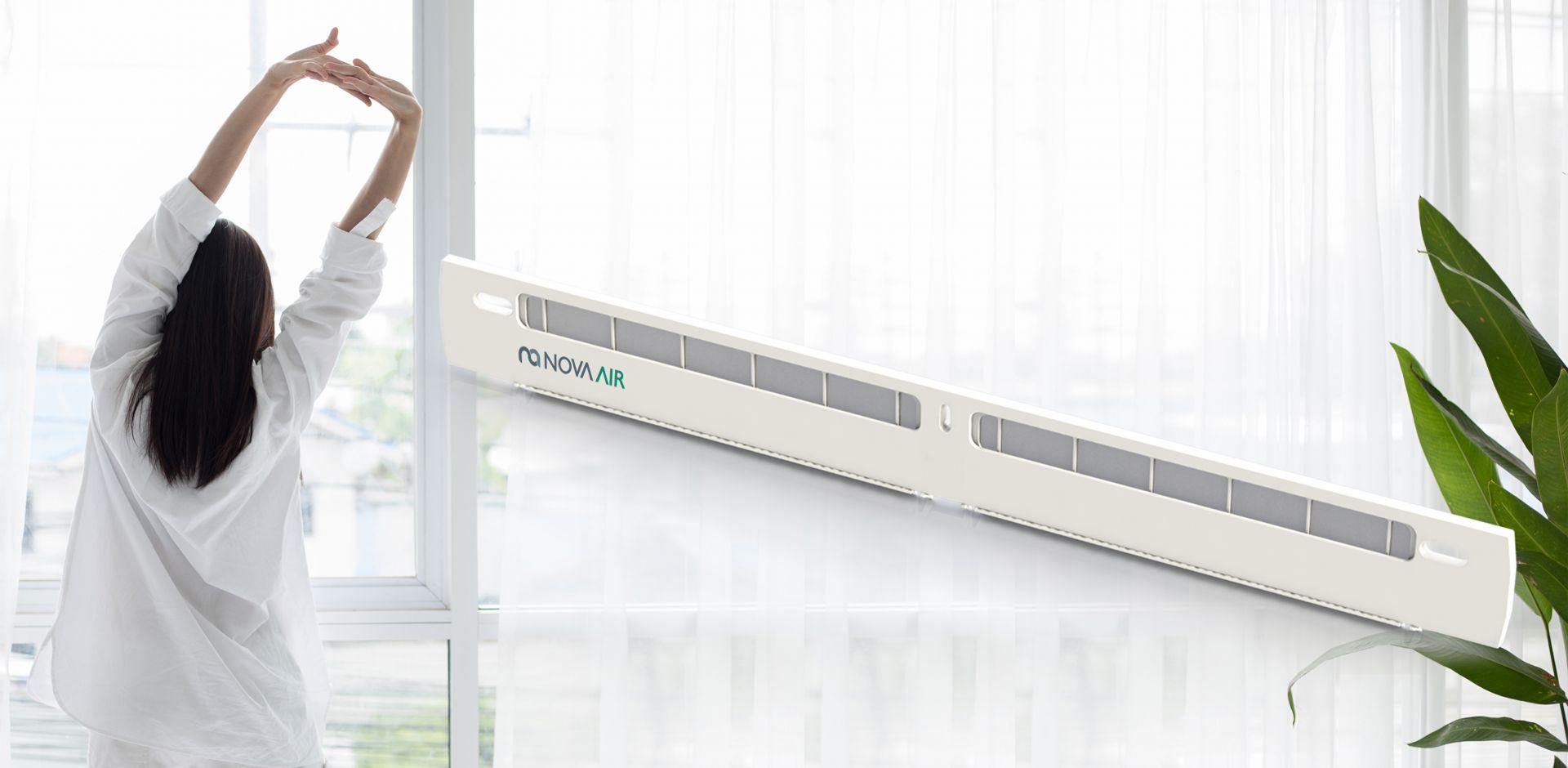 NovaAir to filtr antysmogowy i antyalergenowy, który współpracuje z większością dostępnych na rynku nawiewników okiennych. Fot. Brookvent