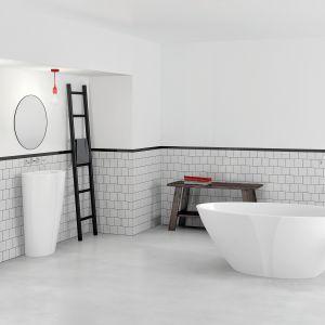 Wanna wolnostojąca i umywalka stojąc-przyścienna z kolekcji Selia. Fot. Marmorin Design