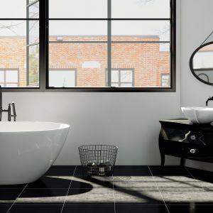 Wanna wolnostojąca i umywalka nablatowa z kolekcji Zora. Fot. Marmorin Design