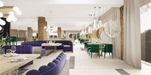 Hotelowa restauracja wygląda jak prawdziwy górski klejnot. Projekt i wizualizacje: Katarzyna Kraszewska