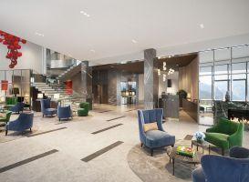 Wnętrza hotelu Radisson Blu nie odbiegają od koncepcji architektury, a wręcz przeciwnie -  tworzą z nią idealny tandem. Projekt i wizualizacje: Katarzyna Kraszewska
