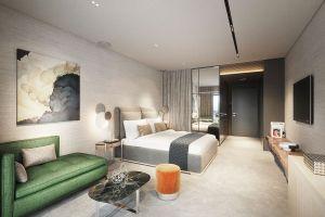Hotelowe pokoje to prawdziwe cacka, współczesne buduary, gwarantujące relaks na najwyższym poziomie. Projekt i wizualizacje: Katarzyna Kraszewska
