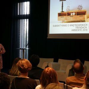 Prezentacja o trendach wnętrzarskich na Ambiente 2019