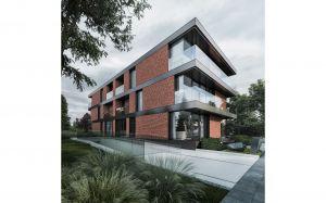 Inwestorowi zależało na harmonijnym wpisaniu budynku w otoczenie. Dzięki zastosowaniu naturalnego materiału, jakim jest ręcznie formowana cegła, w pełni się to udało. Projekt i wizualizacje: 81.WAW.PL
