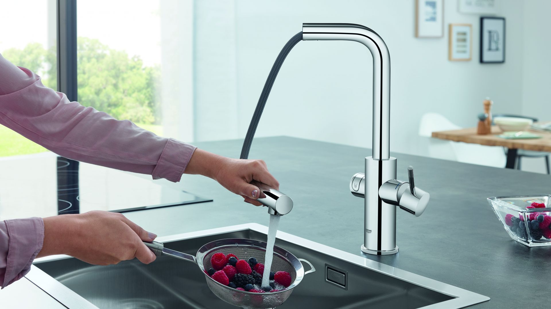 System kuchenny Grohe Blue Home Pull-Out Connected. Fot. Grohe