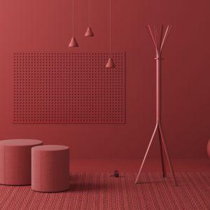 Jeden z ostatnich projektów Tomka Rygalika, wieszak Nine dla marki Profim, miał swoją premierę podczas targów Orgatec 2018. Projekt: Studio Rygalik. Fot. Profim