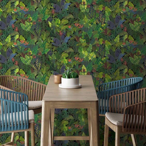 Pomysły na ściany - kwiaty na tapecie