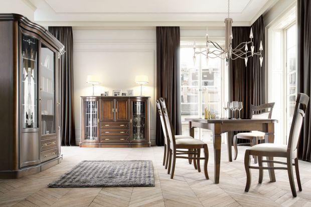 Meble do salonu i jadalni - piękna, klasyczna kolekcja