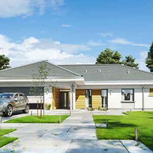 Projekt Parterowy 2, o powierzchni użytkowej blisko 165 metrów, to dom dla 4-5-osobowej rodziny. Dom Parterowy 2. Projekt: arch. Michał Gąsiorowski. Fot. MG Projekt
