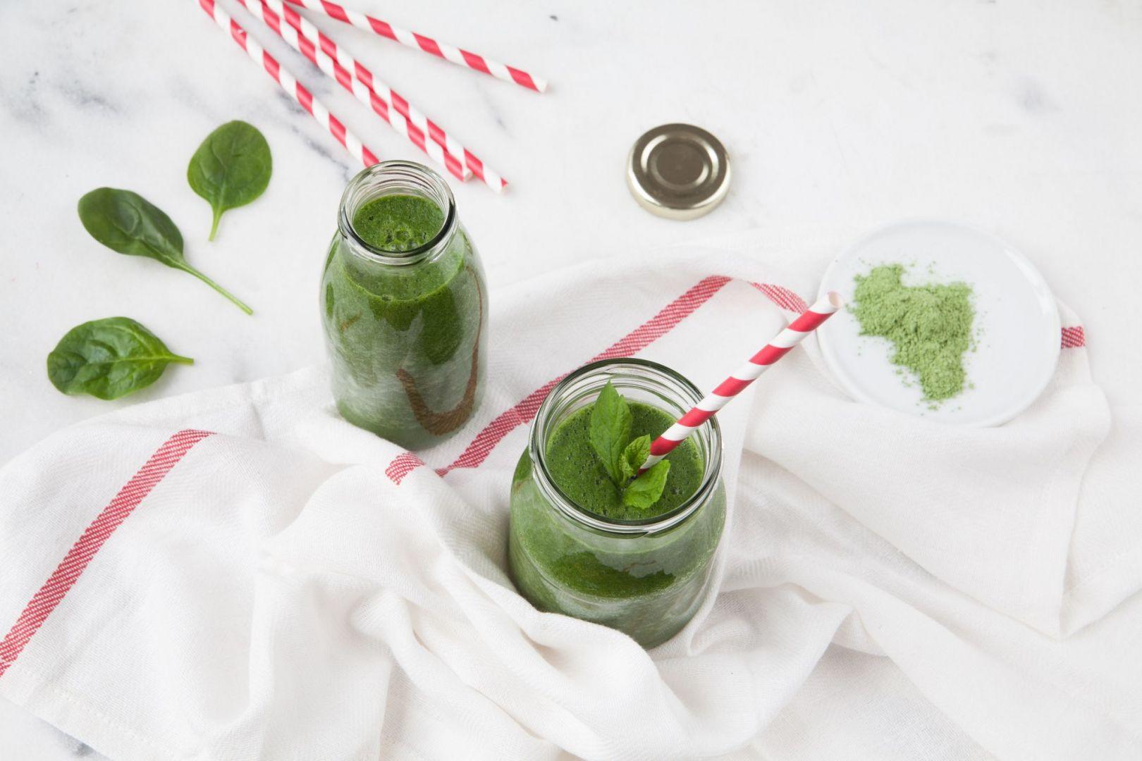 Prezent na Dzień Kobiet - zdrowa dieta: zielone smoothie. Fot. Termomix