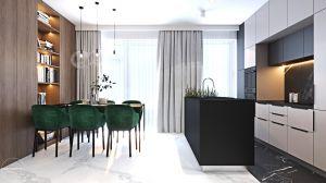 Mieszkanie w kolorze kaszmiru. Projekt i wizualizacja: Ambience. Interior Design