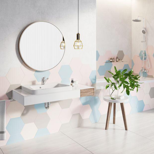 Elegancka łazienka - postaw na kolor w aranżacji