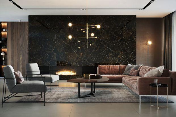 Piękny salon - najmodniejsze materiały na podłogi i ściany