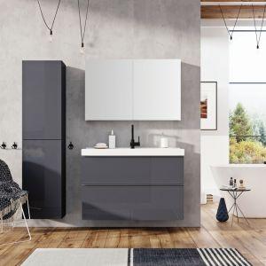 Kolekcji mebli łazienkowych Look oferuje wiele możliwości konfiguracji, atrakcyjny, wyrazisty kształt oraz proste linie nadają oryginalności. Fot. Elita
