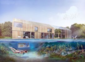 W kontekście miasta, Dom Symbiotyczny tworzy unikalny mikroklimat, natomiast w kontekście wsi w sposób naturalny wpisuje się w zastany krajobraz. Projekt i wizualizacja: BXBstudio