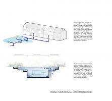 Koncepcja akwarium kąpielowego w Domu Symbiotycznym. Projekt i wizualizacja: BXBstudio