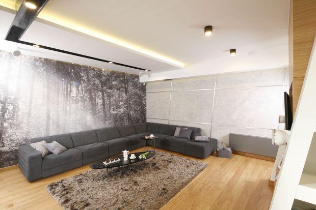 Nowoczesny salon - 10 projektów z betonem dekoracyjnym