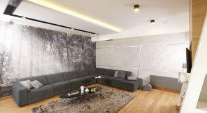 Beton dekoracyjny doskonale prezentuje się w nowocześnie urządzonych salonach. Przez architektów wnętrz chętnie wykorzystywany jest jako wykończenie ścian.
