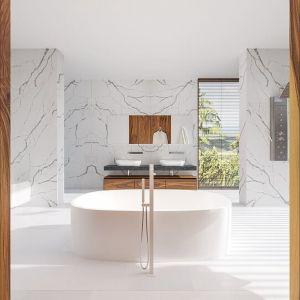 Minimalizm w łazience. Fot. Technistone