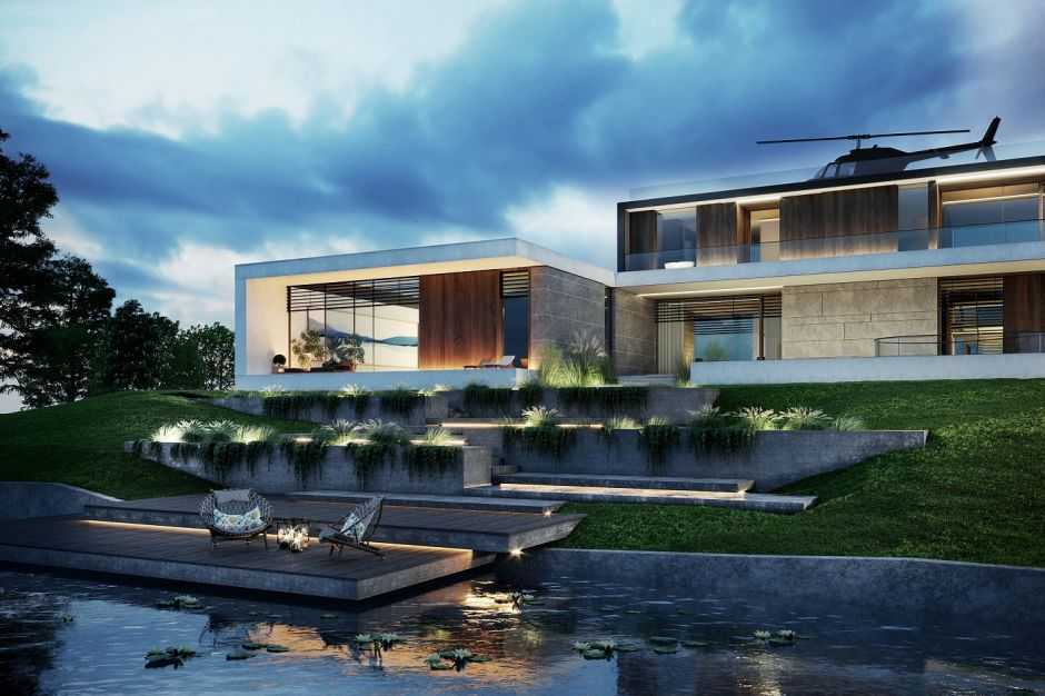 Water Mansion House - luksusowa rezydencja nad wodą