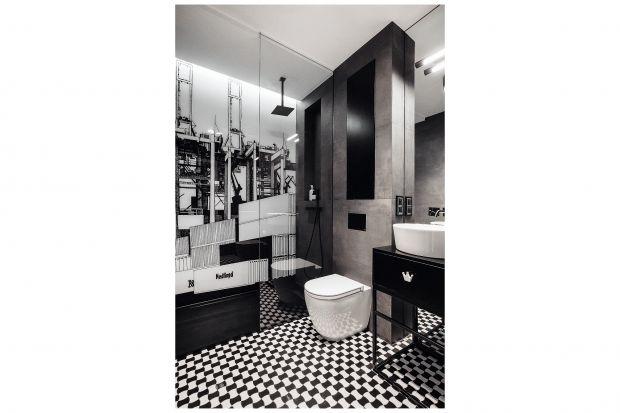 Mała łazienka w męskim stylu - zobacz gotowy projekt