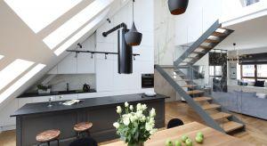 Dobry design, luksusowe materiały, elementy stylu industrialnego i klasyczne formy. To wszystko odnajdziemy w projekcie tej wyjątkowej, otwartej kuchni połączonej z jadalnią.