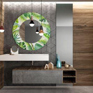 Dolną formatkę lustra można pokryć zdobieniem w postaci wielokolorowego nadruku cyfrowego w technologii farb ceramicznych. Do wyboru 200 wzorów lub własny projekt. Fot. Glasimo