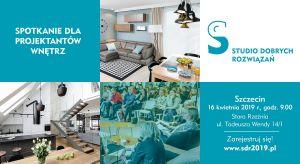Architektów oraz projektantów wnętrz zwojewództwa zachodniopomorskiego serdecznie zapraszamy na kolejne spotkanie w ramachStudia Dobrych Rozwiązań.Już 16 kwietnia będziemy na Was czekać w Szczecinie!