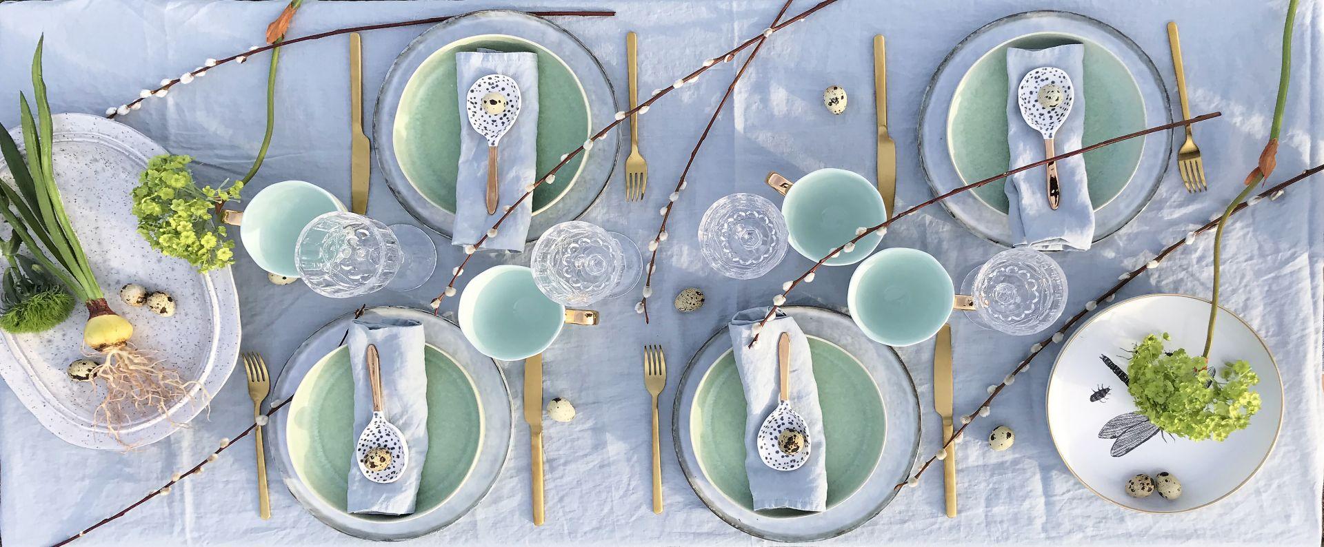 Aranżacja wiosennego stołu. Fot. Dutchhouse