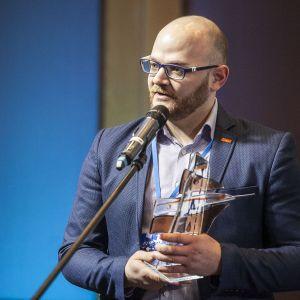 Nagrodę odebrał Michał Turlejski, Product Manager Franke Polska