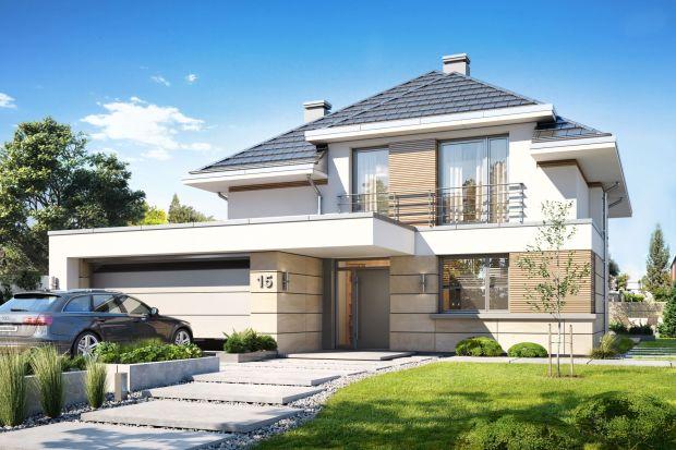 Dom z piętrem. Ten nowoczesny projekt 130 metrów Cię zachwyci!