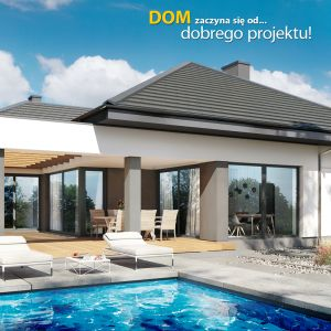 """Nowoczesna parterówka """"Dom w przebiśniegach 4"""". Fot: Biuro Projektów ARCHON+"""