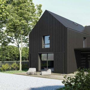 Nowoczesna stodoła - pomysł na dom. Wizualizacja: Anna Maria Sokołowska