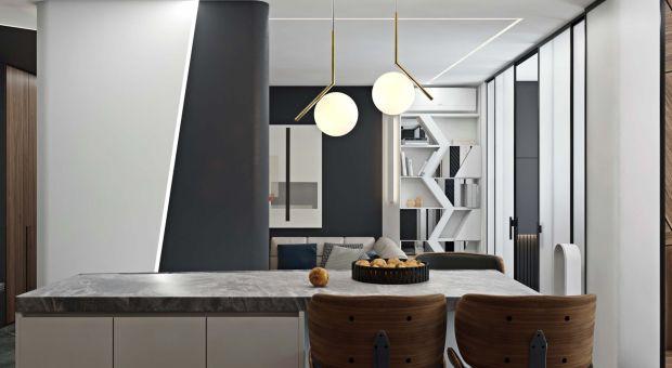 Męski azyl: zobacz wnętrza nowoczesnego apartamentu