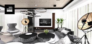 Aranżacja salonu. Projekt i wizualizacja: ARTDESIGN biuro projektowe