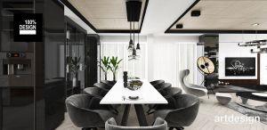 Eleganckie, lekko industrialne wnętrze salonu. Projekt i wizualizacja: ARTDESIGN biuro projektowe